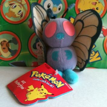 Pokemon Plush Hasbro Butterfree stuffed doll toy figure Rare U.S Seller caterpie