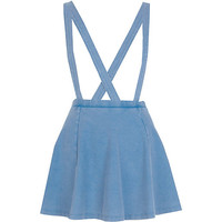 River Island Womens Light acid wash dungaree skater skirt