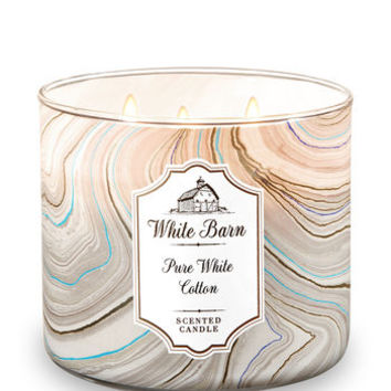 PURE WHITE COTTON3-Wick Candle