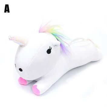 Candy Color Plush Soft Unicorn Make Up Cosmetic Bag Pouch Purse Pencil Case Bag Travel Gift