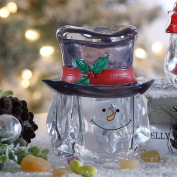 Snow Man Top Hat Candy Jar