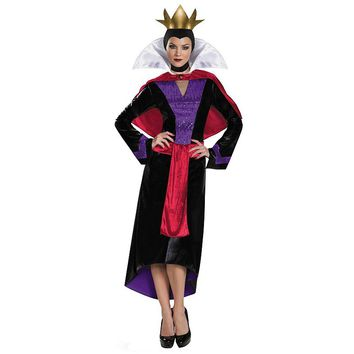 Disney's Snow White Evil Queen Deluxe Costume - Adult (Purple/Black/Snow White)
