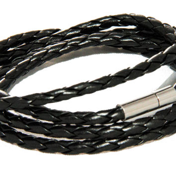 Woven Black Wrap Bracelet - OVERSTOCK CLEARANCE PRICE