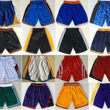 Cheap Basketball Pant 33 Larry Bird 0 Russell Westbrook 23 LeBron James Shorts Sport Men Sportswear Breathable 21 Jimmy Butler 35 Kevin Dura