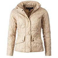 Flyweight Cavalry Quilted Jacket in Dark Stone by Barbour - FINAL SALE
