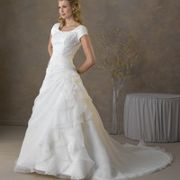 Bonny Bliss 2021 Modest Organza Wedding Dress