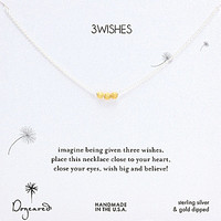 Dogeared 3 Wishes Stardust Beaded Necklace - Gold