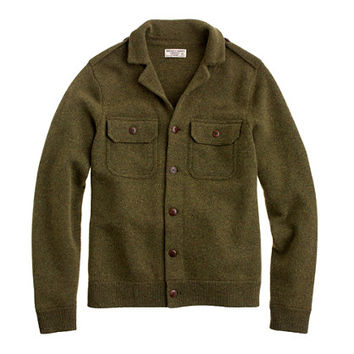 J.Crew Mens Wallace & Barnes Lambswool Eisenhower Jacket