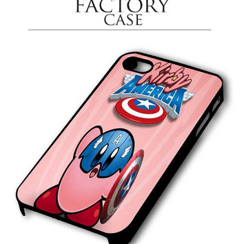 kirby america iPhone 4, iPhone 4s, iPhone 5, iPhone 5s, iPhone 6, iPhone 6+,iPod 4, iPod 5 case
