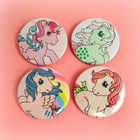 My Little Pony set of 4 - button badge or magnet 1.5 Inch