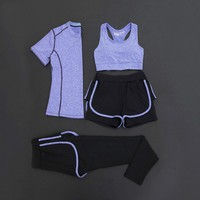 NIUMO New Yoga suit female vest With short sleeves The gym Sports clothes running quick-drying