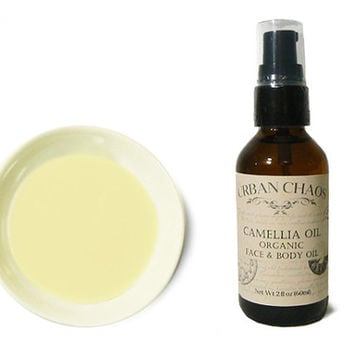 Organic Camellia Oil - Organic Face Moisturizer - Tea Seed Oil - Facial Oil - Body Oil - Stretch Mark - Urban Chaos Organic Skin Care