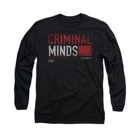 Criminal Minds TV Show CBS Title Card Adult Long Sleeve T-Shirt Tee