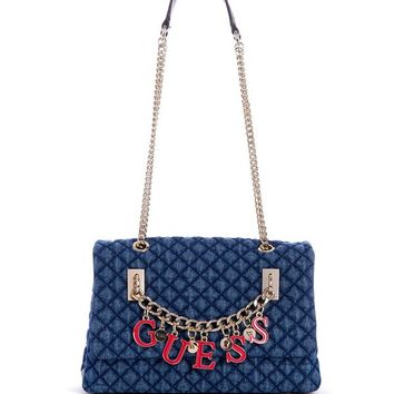 Passion Denim Convertible Crossbody at Guess