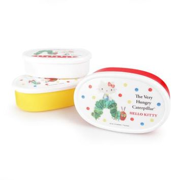The Very Hungry Caterpillar x Hello Kitty Snack Case Set
