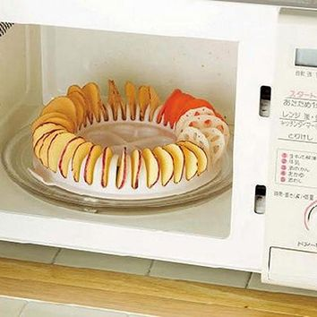 DIY Microwave Potato Chip Maker Chips Rack Tray Oven Potato Chips Baking Tools Home Snacks Maker Kitchen Gadgets
