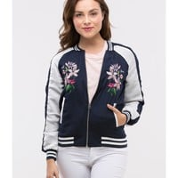 Bungalow 20 Embroidered Bomber Jacket | Bluefly.Com