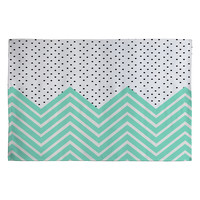 Allyson Johnson Minty Chevron And Dots Woven Rug