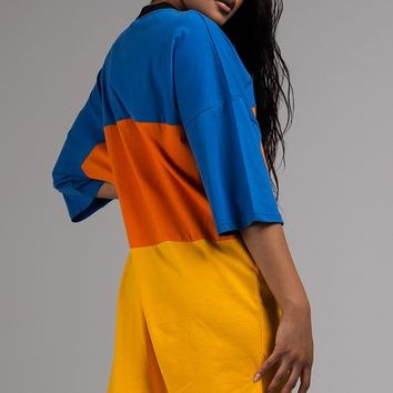 The Ragged Priest Opal Colorblock T Shirt Dress in Multi