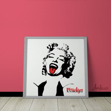 Marilyn Monroe Digital Art Print - Inspirational Wall Art, Printable Art, Funny Poster Art, Canvas Art, Instant Digital Download