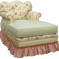 English Bouquet Adult Empire Chaise Lounge