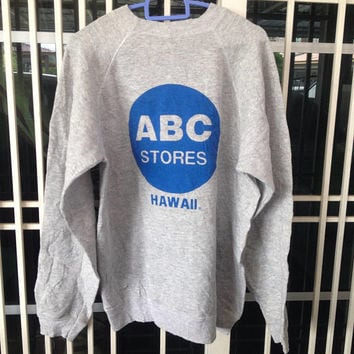 Vintage 90's ABC Stores Hawaii crewneck sweatshirt big logo M size