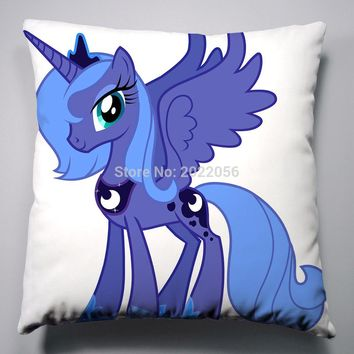Anime Manga My Little Pony Rainbow Horse Pillow 40x40cm Pillow Case Cover Seat Bedding Cushion 007