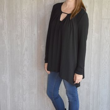 Cutting Edge Flare Top: Black