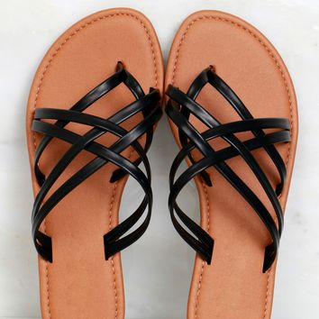 Strappy Does It Sandals Black