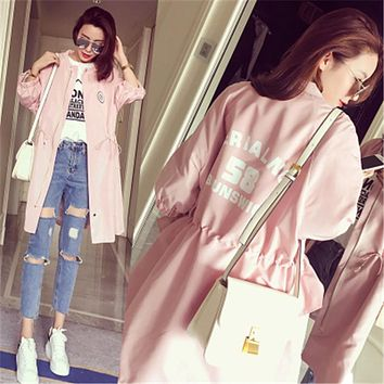 YONO Brand New Fashion Women Trench Casual Spring Outwear Slim Abrigo Half Sleeve Cardigans Long Ladies Coat Overcoat Plus Size