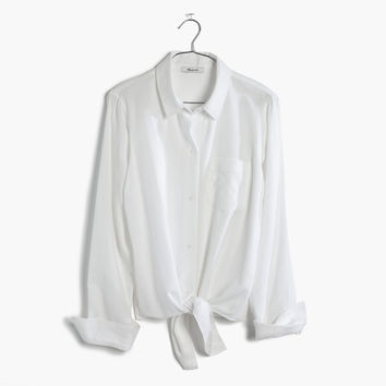 White Tie-Front Shirt : | Madewell
