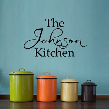 Kitchen Wall Decal - Personalized Name Decal - Kitchen Wall Art - Medium