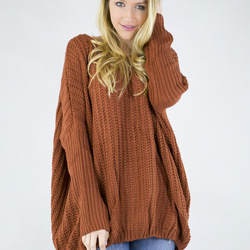 Beautiful Braided Knit Over Sized Sweater