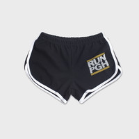 RUN PGH - Vintage Women's Track Shorts (Black)