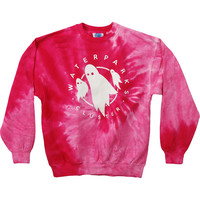 Waterparks Men's  Ghost Spiral Sweatshirt Pink Rockabilia