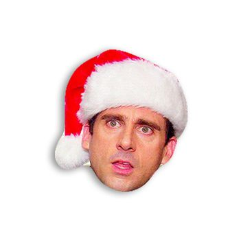 Michael Scott with a Christmas Hat Magnet