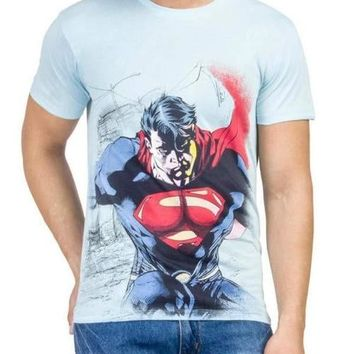 Superman Rage Blue Half Sleeve Men T-Shirt