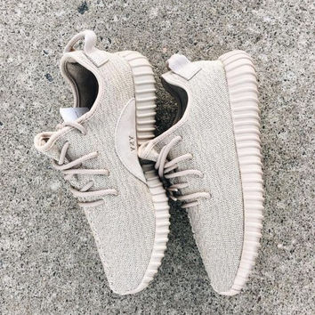 """Adidas"" Women Yeezy Boost Sneakers Running Sports Shoes Foot Khaki"