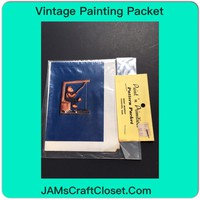 Vintage Painting Packet #12 Bear Fishing