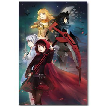 RWBY Girl Art Silk Fabric Poster Cartoon Picture #003