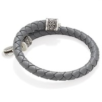 Alex and Ani Spring Shower Braided Leather Wrap - Rafaelian Silver ...