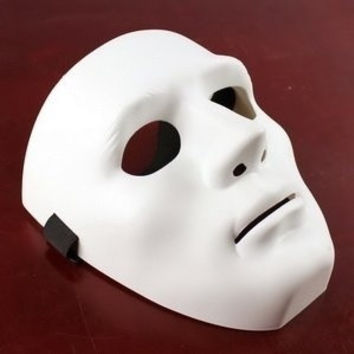 Venetian Mardi Gras Masquerade Ball Party Hip- Hop JabbaWockeeZ Top Grade Mask Thick White #lcmq = 5617152705