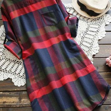Cupshe Walk the Shine Plaid Dress
