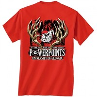 Georgia Bulldogs Power Points T-Shirt | UGA Power Points T-Shirt | Georgia Bulldogs Hunter Tee