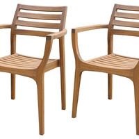 Danish Stacking Chairs, Set of 4, Outdoor Dining Chairs