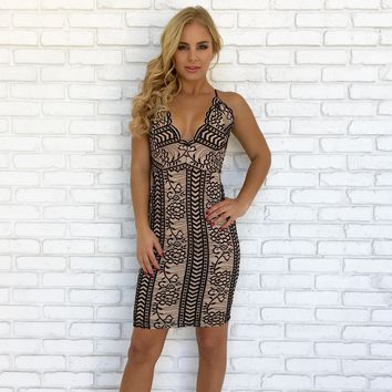 Hold Me Tight Lace Bodycon Dress