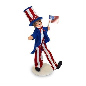 Annalee Dolls 10in 2018 Uncle Sam Kid Plush New with Tags