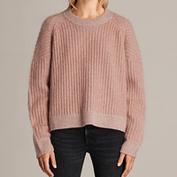 ALLSAINTS US: Womens Ade Cropped Sweater (CORAL PINK)
