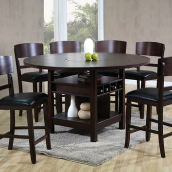 Espresso Dining Set   Conner Five Piece Counter Height Dinette   American Freight