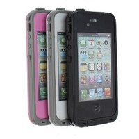 MaxSale Waterproof Shockproof PC Case Cover for iPhone 4 4S 4G